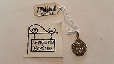 Pendant Religious Antique Solid Silver Virgin Marie - REF00002633