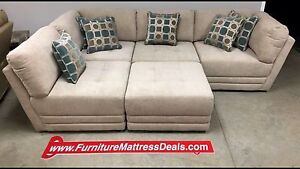Brand New Fabric Five Piece sectional with toss cushions $1500