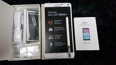 Inbox NEW Samsung Galaxy Note 4 N910P 32GB WHITE SPRINT CLEAN ESN. HAS SHADOW
