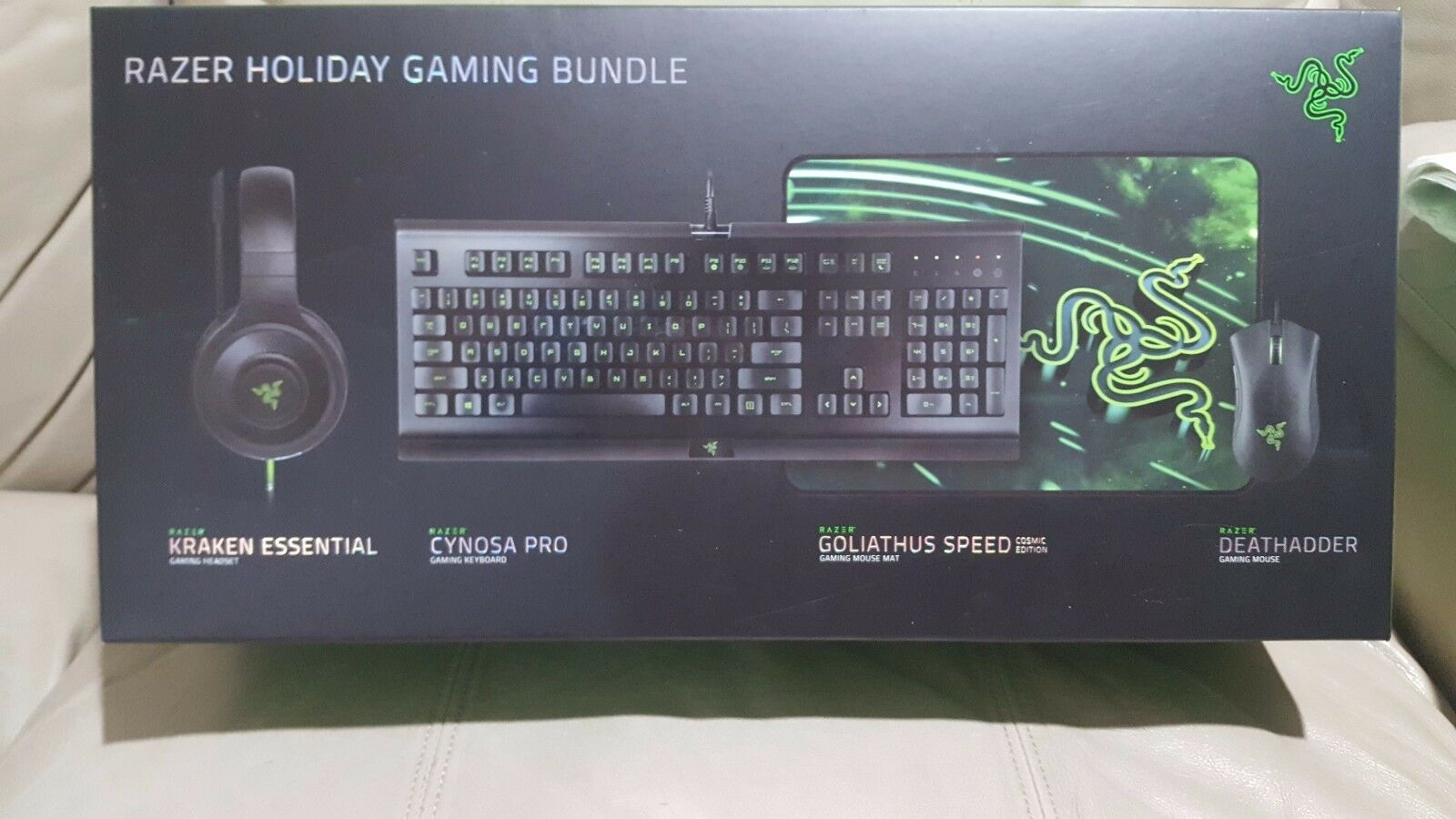 Razer Holiday Gaming Bundle - Kraken,Cynosa Pro, Goliathus S