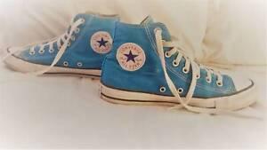 d5b8f932d5a5 Aqua Blue Converse Chuck Taylor All Star sneakers Mens7  Womens 9