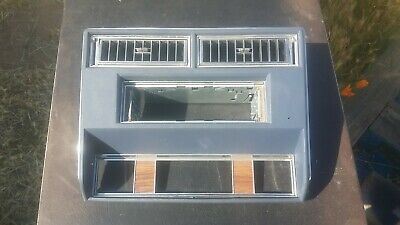 1977-1989 Cadillac Fleetwood Brougham Deville RWD Radio Climate Control Bezel