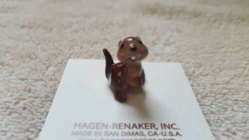 Hagen Renaker Baby Chipmunk Figurine Miniature Collect New Free Shipping 00334