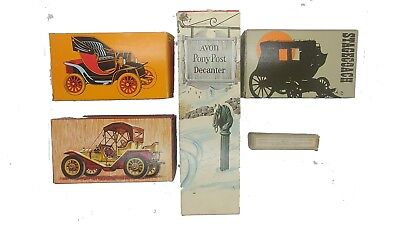 AVON PACKARD ROADSTER, ELECTRIC CHARGER, STAGECOACH, PONY POST, & PURSE BOTTLE