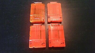 Lot 4 Nerf 6 Round Magazines -USED, VGC- Elite N-Strike Clip Bundle