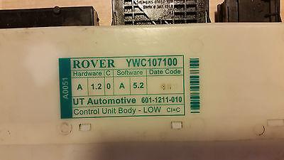 ROVER 75 BCM BODY CONTROL ECU YWC112330 MG ZT
