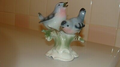 New Ganz Fall Floral Yellow Brown Hand Painted Bird Table Decor Statue Figurine