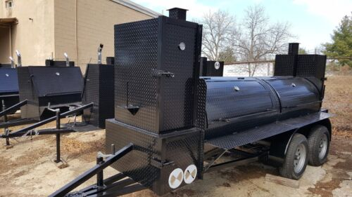 Big Smokey BBQ Smoker Grill Trailer Business Catering Food Truck Restaurant