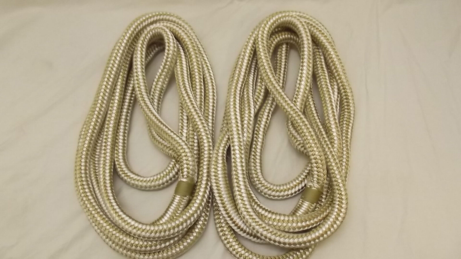 "NEW Pair (2) 3/4"" x 10' Double Braid Nylon Dock Line, Mooring, Anchor Rope, Boat"