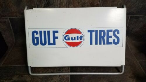 Very Nice Vintage Gulf Tires Tire Mount Sign