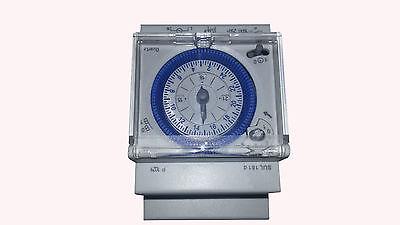 Reloj programador 24H para cuadro eléctrico de piscinas. 230v
