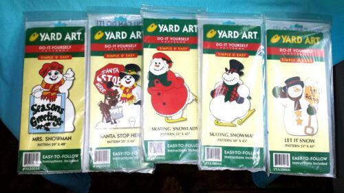 CHRISTMAS SNOWMAN YARD ART DO IT YOURSELF LOT OF 5 PATTERNS NEW SEALED  SANTA