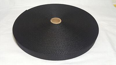 - 1 Inch Heavy Weight Black Nylon Strap Webbing 1