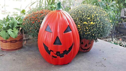 "VINTAGE 28"" Pumpkin Blow Mold LIGHT UP HALLOWEEN JACK O LANTERN"