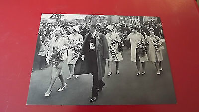 1962 Silver Wedding of Queen Juliana of The Netherlands  Family Postcard