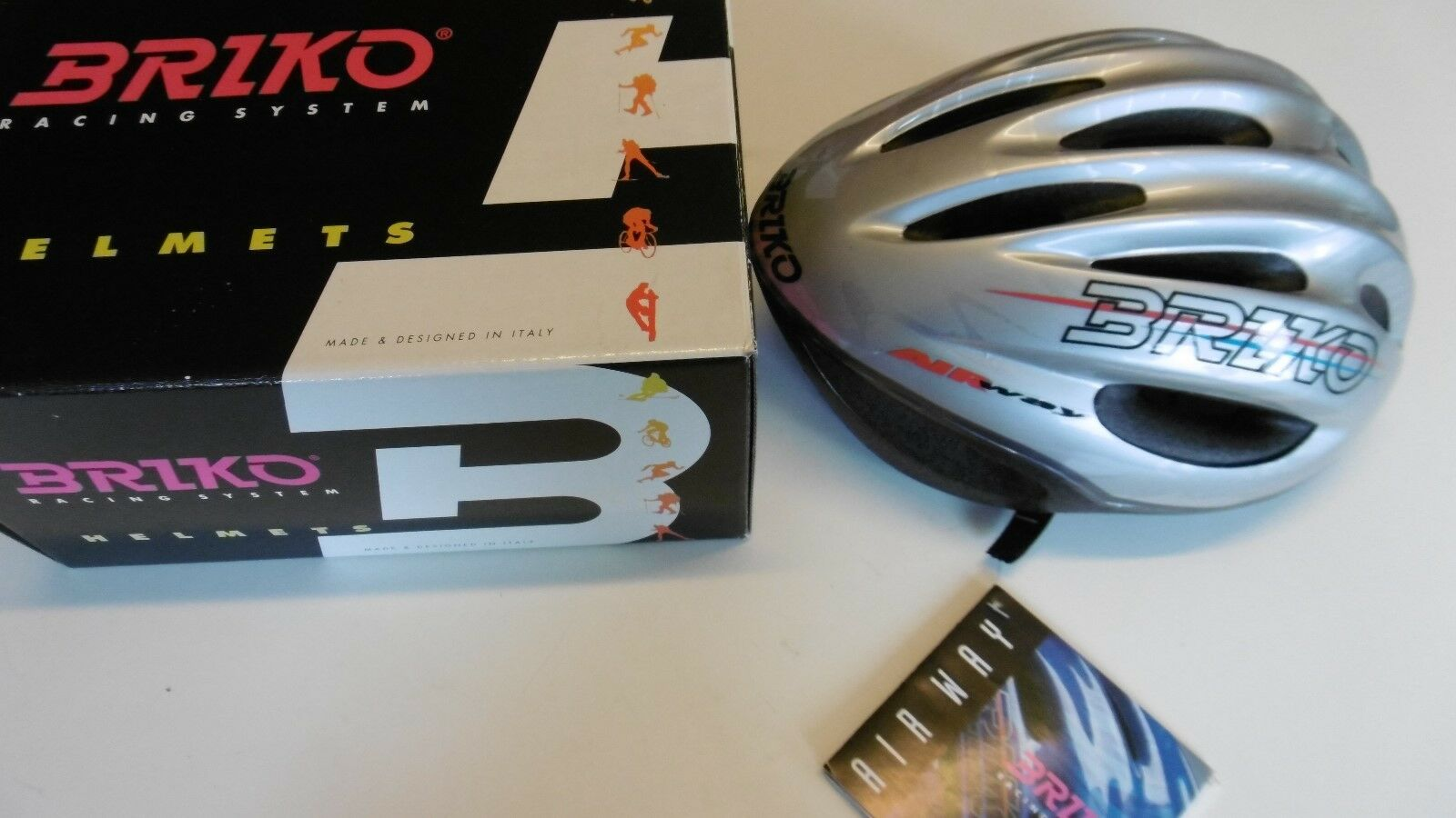 "Briko Air Way ""Ocean"" Racing Helmet 60-62 L/XL Made&Design In Italy New In Box"
