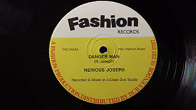 "Nerious Joseph - ""Danger Man"" Rare Original Digi Dancehall 12"" Fashion"