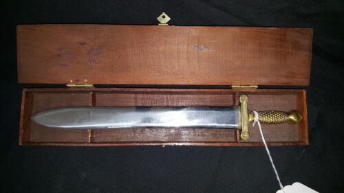 Miniature Confederate Artillery Sword With Case Hand Made Reproduction