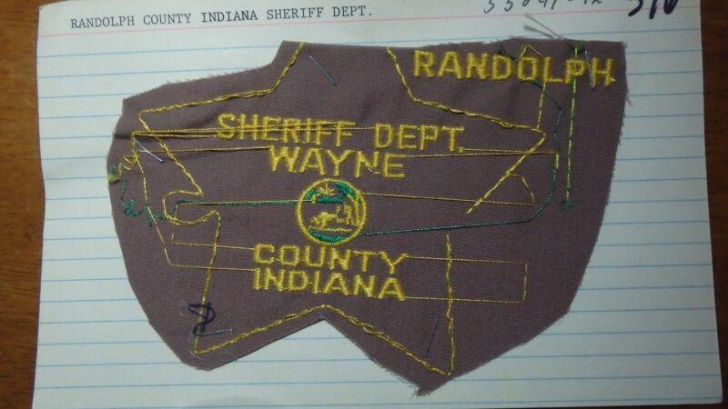 SHERIFF DEPART WAYNE COUNTY INDIANA  SALESMAN COPY OBSOLETE PATCH BXSP#376