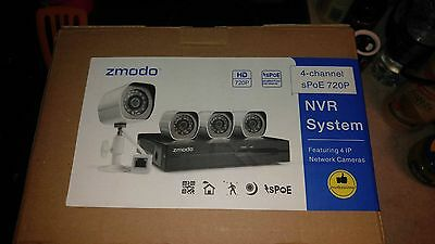 Zmodo 4ch 720p Security Camera System |BRAND NEW in BOX|