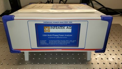 Infratek 108A Harmonic Power Analyzer: Single to Six Phase: Model 108A