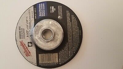 MILWAUKEE GRINDING WHEEL TYPE 27   4-1/2 in. x 1/4 in. x 5/8-11 in. ARBOR  11 Type 27 Wheel