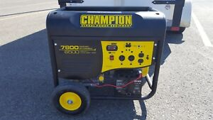 Only used once 7800 w Champion generator