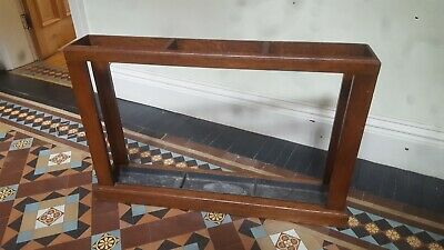 Vintage wooden hall stand / umbrella stand