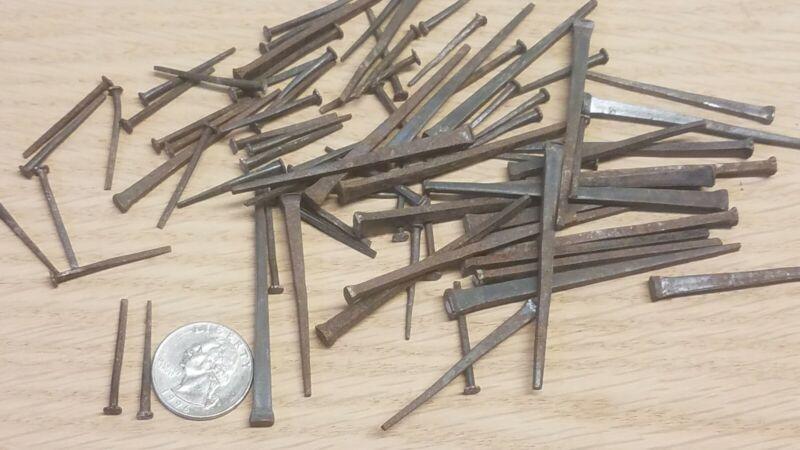 Small Lot Authentic ANTIQUE CUT NAILS VINTAGE 1867