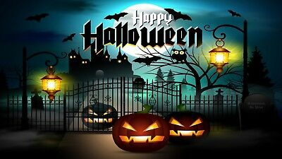 HALLOWEEN HOLIDAY SCARY PUMPKINS GHOSTS ZOMBIE DECORATION FRIDGE MAGNET #21 - Scary Pumpkins Halloween