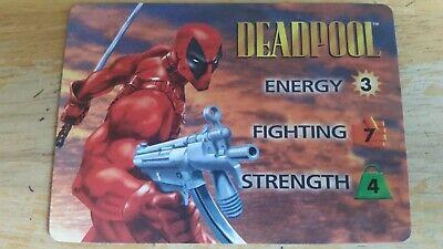 Deadpool Stats ('95 Marvel Fleer Trading Card OVERPOWER DEADPOOL OP 3-STAT HERO Collectible)