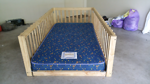 Toddler king single bed frame with innerspring mattress. Bald Hills Brisbane North East Preview
