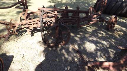 Old four furrow plough for use or lawn ornament Churchable Lockyer Valley Preview