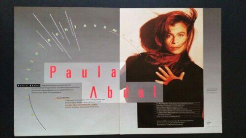PAULA  ABDUL ARTISTIC ACHIEVEMENTS (1990)  RARE ORIGINAL PRINT PROMO POSTER AD