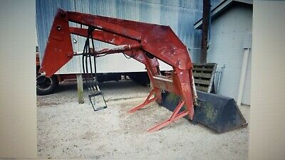 Agco White Tractor Qa Front End 696 Loader With 8 Bucket W Mounting Brackets