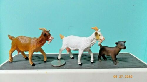 2 Safari Goats and 1 Schleich Baby Goat
