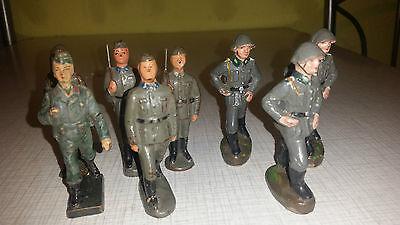Antike Massefiguren Soldaten NVA Linol