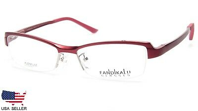 NEW FANDIKALU 2014 C1 RED WOMEN EYEGLASSES FRAME 55-18-138 B31mm DESIGN Italy