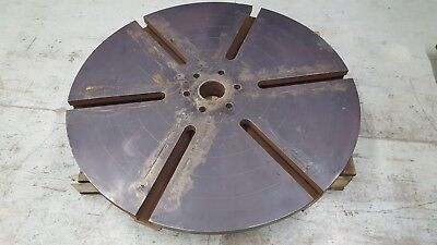 43 Round T-slot Sub Plate Steel Fixturemounting Plate Slotted Table