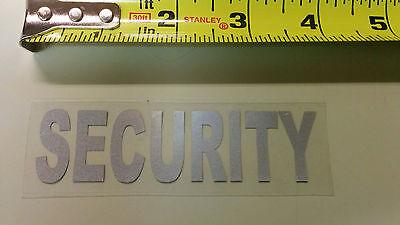10 Security Uniform Reflective Iron On Emblem Decal Logo 3.75 Inch X 1 Inch