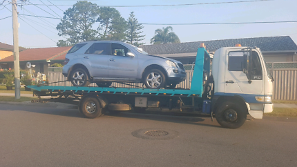 Tilt tray towing