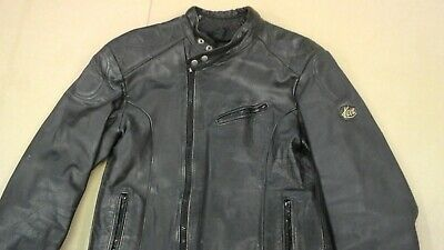 VINTAGE 60'S KETT LEATHER PLAINSMAN MOTORCYCLE JACKET SIZE S LIGHTNING ZIPS