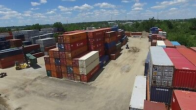 40 Footft Standard Steel Cargo Intermodal Shipping Container Cleveland Ohio