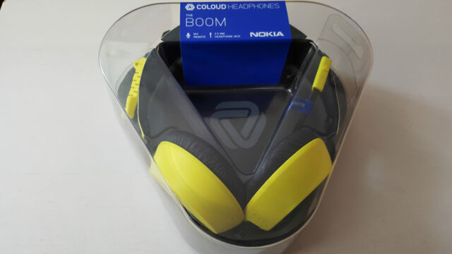 Nokia Coloud Boom WH-530 Over-Ear Headphones With Mic & Tangle-Free Cable Yellow