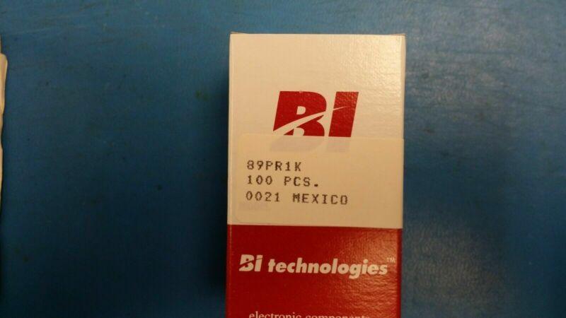 (100PC) 89PR1K BI Technologies Res Cermet Trimmer 1K Ohm 10% 0.75W(3/4W) 20-turn