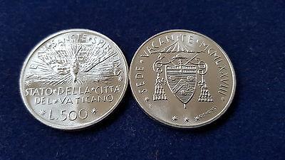 """MDS VATIKAN 500 LIRE 1978 """"SEDE VACANTE"""", SILBER"""
