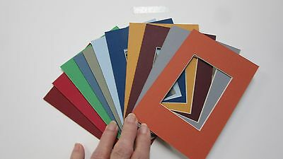 Picture Frame Mats set of 10 Assorted colors variety pak 4x6 for ACEO size