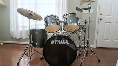Tama Swingstar 5-Piece Drum Set Complete with Hardware, Cymbals and Throne