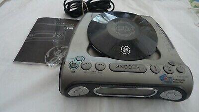 GENERAL ELECTRIC GE 7-4901 CD Player AM/FM Radio Dual Wake Digital Alarm Clock