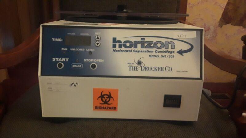 Drucker Company Horizon 12 Vial Swing Bucket Centrifuge
